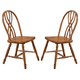 ECI Furniture Missouri Double X Back Side Chair in Rustic Oak 2150-04-S (Set of 2)