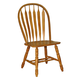 ECI Furniture Bow Back Side Chair in Rustic Oak 2190-04-S (Set of 2)