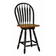 ECI Furniture Large Bow Back Counter Stool in Black and Rustic 2190-10-BS24 (Set of 2)