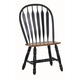 ECI Furniture Bow Back Side Chair in Black and Rustic 2190-10-S (Set of 2)