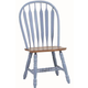 ECI Furniture Bow Back Side Chair in Blue and Rustic 2190-13-S (Set of 2)