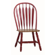 ECI Furniture Bow Back Side Chair in Red and Rustic 2190-15-S (Set of 2)