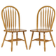 ECI Furniture Yorkshire Side Chair in Burnished Oak 7000-03-S (Set of 2)