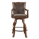 ECI Furniture Monticello Spectator Stool in Distressed Walnut 7040-35-SBS