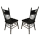 ECI Furniture Roxbury Side Chair in Black Rub 7057-10-S (Set of 2)