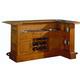 ECI Furniture Manchester Raised Panel Return Bar in Burnished Oak 1150-03-RT-RB-R