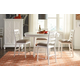 American Drew Lynn Haven 5-Piece Adjustable Storage Dining Set in Dover White
