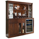 ECI Furniture Manchester Bar and Hutch in Distressed Walnut 1150-35-H-BB
