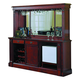 ECI Furniture Monticello Back Bar and Hutch in Distressed Walnut 1200-35-H-BB
