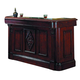 ECI Furniture Monticello Front Bar and in Distressed Walnut 1200-35-TB