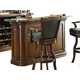 ECI Furniture Preston Front Bar in Distressed Walnut 5810-35-BT