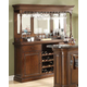 ECI Furniture Preston Back Bar with Hutch in Distressed Walnut 5810-35-HBB