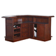 ECI Furniture Belvedere Return Bar in Distressed Walnut 0411-35-TBR