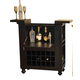 ECI Furniture Nantucket Spirit Cabinet in Black 1866-10-WB