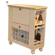 ECI Furniture Nantucket Spirit Cabinet in Antique White 1866-20-WB