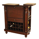 ECI Furniture Williamsburg Spirit Cabinet in Rustic Mahogany 2035-48-WB