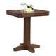 ECI Furniture Gettysburg Pub Table in Dark Distressed 1475-05-PT36-PB36