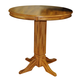 ECI Furniture Adjustable Pub Table in Rustic Oak 0352-04-ADPT-APDB