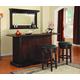 ECI Furniture Nova 3-Piece Bar Set in Distressed Walnut