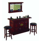 ECI Furniture Guinness 3-Piece Raised Panel Bar Set in Distressed Walnut