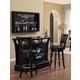 ECI Furniture Godard 3-Piece Bar, Olive Party II Set in Black