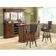 ECI Furniture Preston 3-Piece Front Bar Set in Distressed Walnut