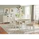 American Drew Siesta Sands 7-Piece Leg Dining Set in White