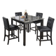 Maysville Square Counter Table Set in Black D154-223