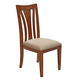 A-America Grant Park Upholstered Side Chair in Pecan (Set of 2) GPKPE215K CLEARANCE