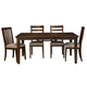 A-America Westlake 7-Piece Rectangular Leg Dining Set in Cherry Brown