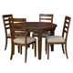 A-America Westlake 5-Piece Oval Leg Dining Set in Cherry Brown