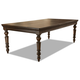 Klaussner Palencia Leg Dining Table in Dark Brown 799-086
