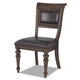 Klaussner Palencia Upholstered Side Chair in Dark Brown 799-900 (Set of 2)