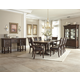 Klaussner Palencia 9-Piece Trestle Dining Set in Dark Brown