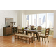 Coaster Arcadia 7-Piece Dining Room Set in Weathered Acacia