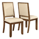 Coaster Bridgeport Counter Height Chair in Weathered Acacia (Set of 2) 105529