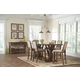 Coaster Bridgeport 7-Piece Counter Height  Dining Room Set in Weathered Acacia