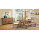 Coaster Elmwood 7-Piece Dining Room Set in Wire Brush Weathered
