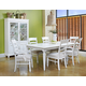 Klaussner Sea Breeze 7-Piece Rectangular Leg Dining Set in White