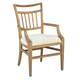 Hekman Avery Park Wood Slat Arm Chair in Light Brown (Set of 2)