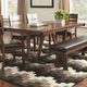 Coaster Avalon Table in Dark Amber and Coffee Bean 105011