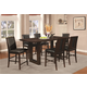 Coaster Chester 7-Piece Counter Height Dining Room Set in Bitter Chocolate