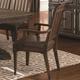 Coaster Carlsbad Arm Chair in Dark Brown (Set of 2) 105733
