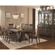 Coaster Carlsbad 9-Piece Dining Room Set in Dark Brown