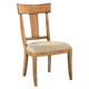 Hekman Wellington Hall Wood Back Side Chair in Burnished Brown (Set of 2)