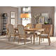 Hekman Wellington Hall 7-Piece Rectangular Dining Set in Burnished Brown