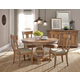 Hekman Wellington Hall 5-Piece Round Dining Set in Burnished Brown