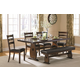 Coaster Urbana/Campbell  6-Piece Dining Room Set in Vintage Cinnamon