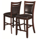 Coaster Dupree Counter Height Stool in Dark Brown (Set of 2) 105479