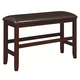 Coaster Dupree Counter Height Bench in Dark Brown 105477